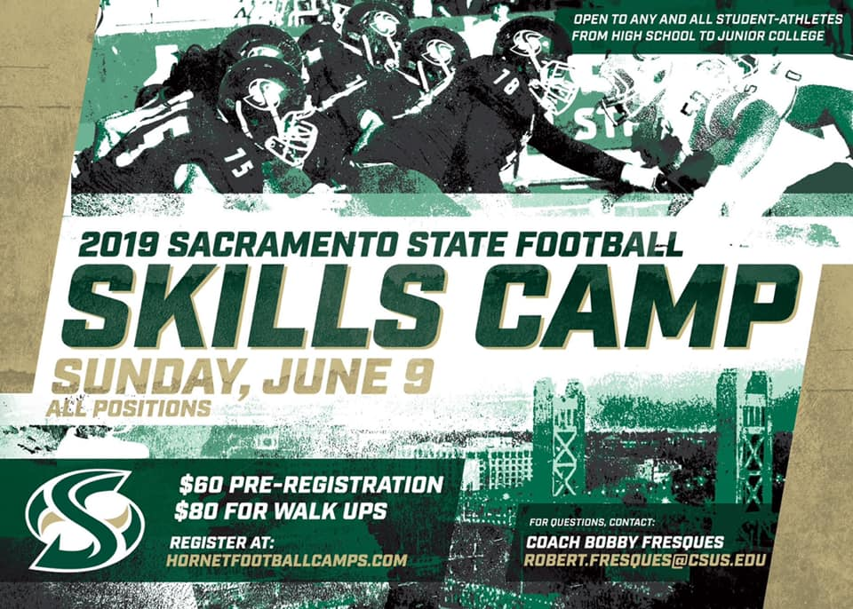 🗣Our Skills Camp is just 5️ DAYS AWAY! Our coaches want to 👀 you there! Register online now ⤵️ Walk-ups welcome! abcsportscamps.com/csusfb/ 🐝🏈