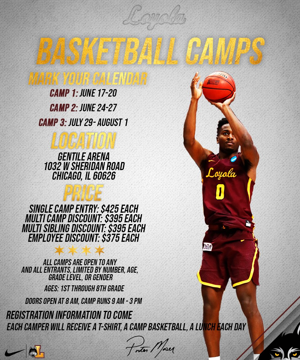 We are less than 2 weeks away from our first week of summer camp! There are a limited number of spots remaining for that session, which begins June 17, so register today! https://epay.luc.edu/C20996_ustores/web/classic/store_main.jsp?STOREID=154&SINGLESTORE=true … #OnwardLU