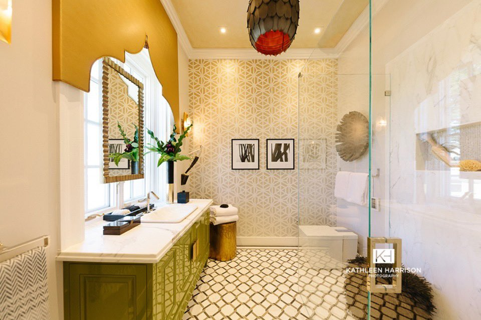 Sf Decorator Showcase On Twitter This Luxurious Guest Bathroom Designed By Jo Ann Hartley For The Sfshowcase2019 Is Surrounded By Traditional Moroccan Motifs Contemporary Finishes Function And Comfort How Impeccable Is All
