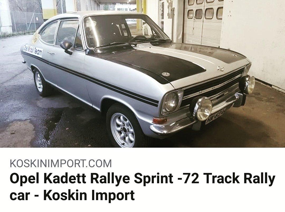 Koskin Import On Twitter Opel On Pop This Opel Kadett Rallye Sprint Has A Good Race History First Competition Was In 1973 Fia Htp Passport Valid To 31 12 2028 Opelkadett Opelonpop Opel Rallye