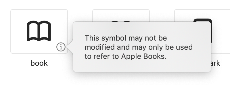 Benjamin Mayo On Twitter Sf Symbols Has Some Frustratingly Restrictive Rules For Certain Glyphs E G Safari Uses The Open Book Icon To Mean Bookmarks But Apple Won T Let A Third Party App Use