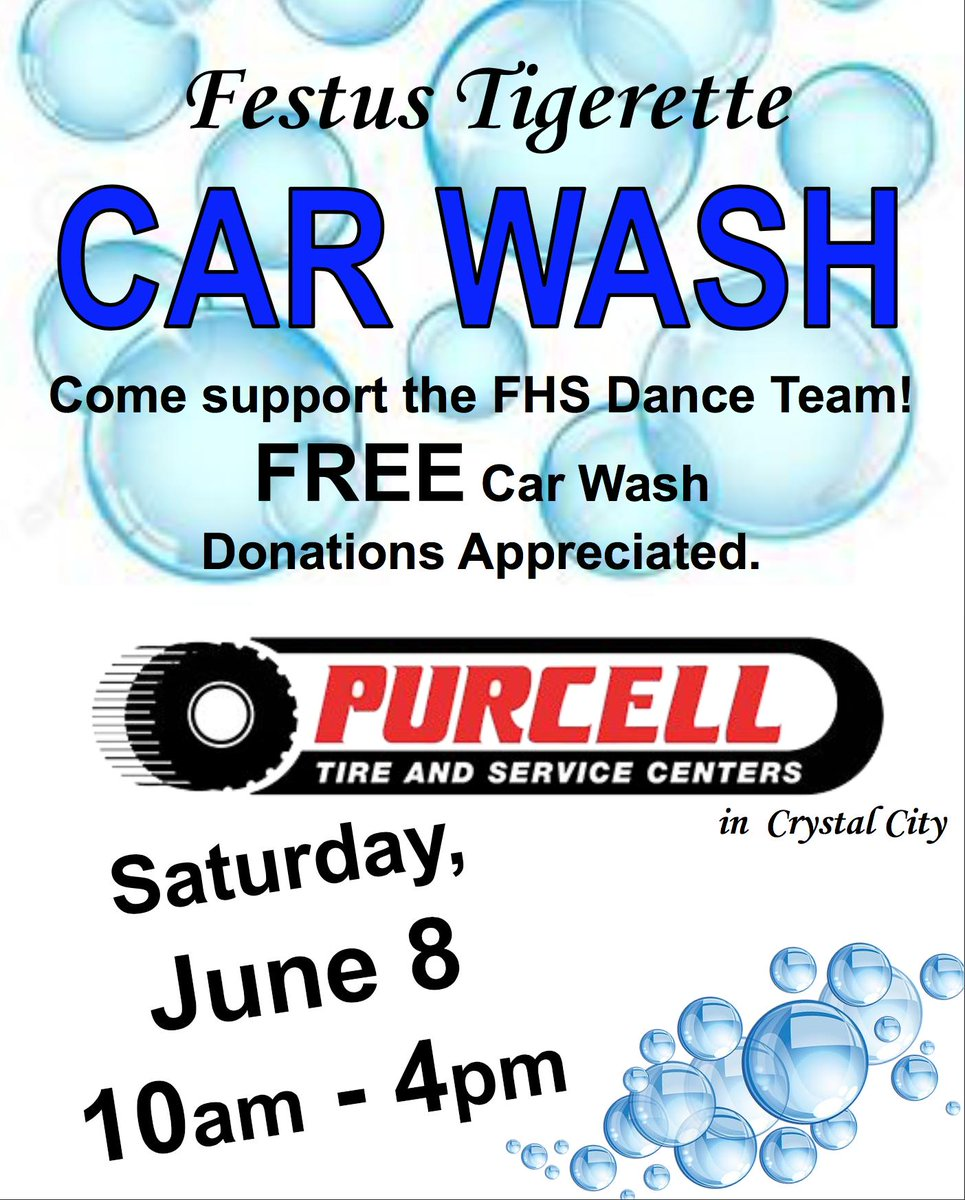 The Festus Tigerette Dance Team is holding a fundraiser this weekend. Stop by and help them out.