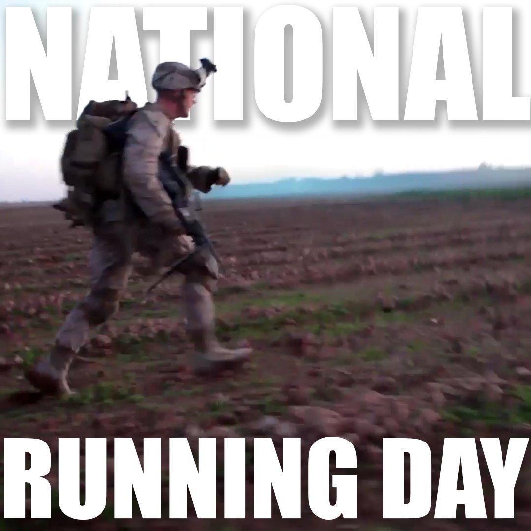 Marines always run toward battle. #NationalRunningDay