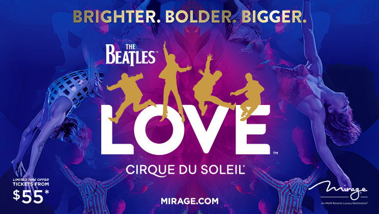 RT+Follow us to #win tickets to The Beatles LOVE by Cirque du Soleil at The Mirage Hotel & Casino on Las Vegas Strip w/ summer ticket offers starting from $55! With 360 degree seating, a three-time Grammy winning soundtrack & aerial acrobatics. Tickets at http://Mirage.com