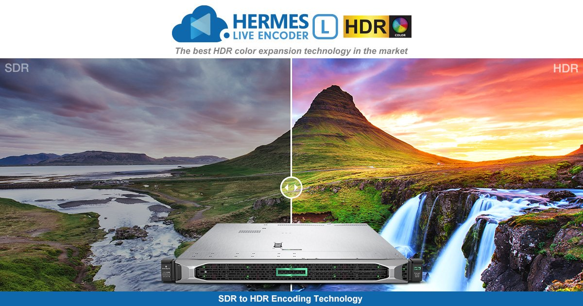 A #new #HERMESLive #EncoderL has been launched. It is best HDR color expansion #technology in the market and allows saving up to 65% #bandwidth*. *This is comparing with H.264 algorithms Details: https://t.co/mrR0LXt7M5 https://t.co/uuJqZtbu2x