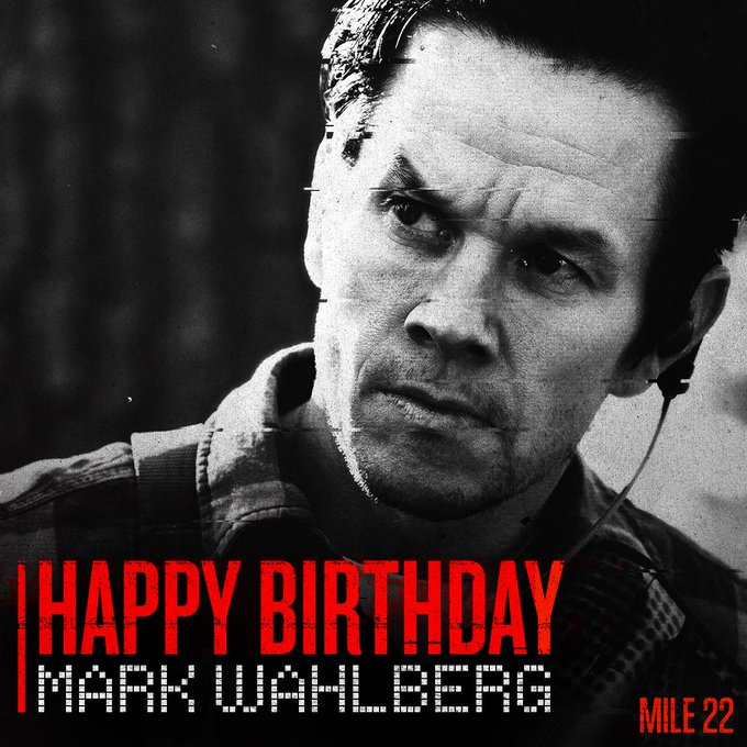 Happy birthday to the man on a mission, Mark Wahlberg.