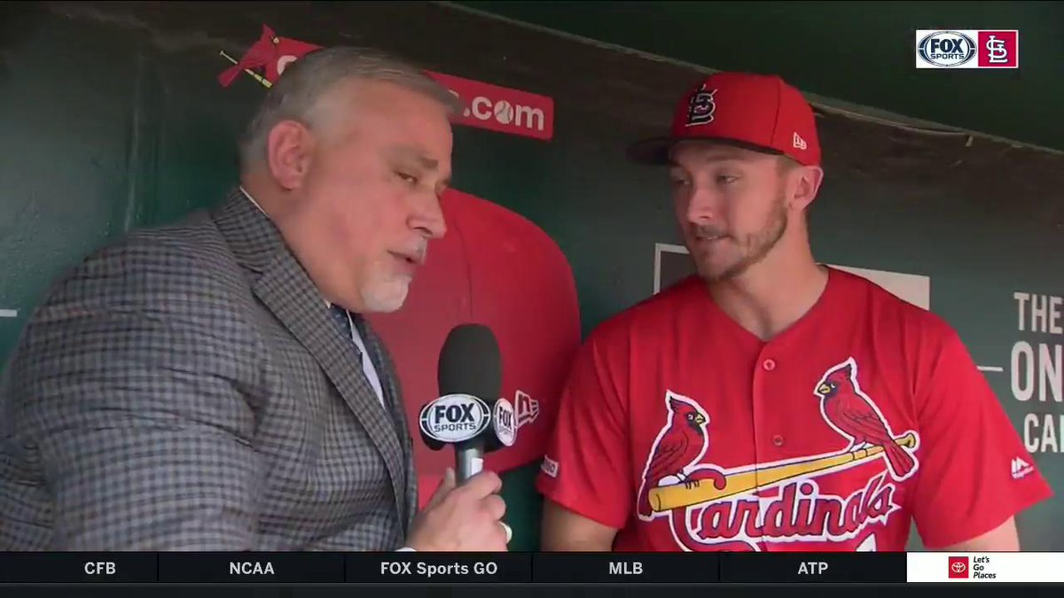 As a keepsake from his MLB debut, Andrew Knizner says he'll soon receive the lineup card from the other day, signed by all the players. #TimeToFly
