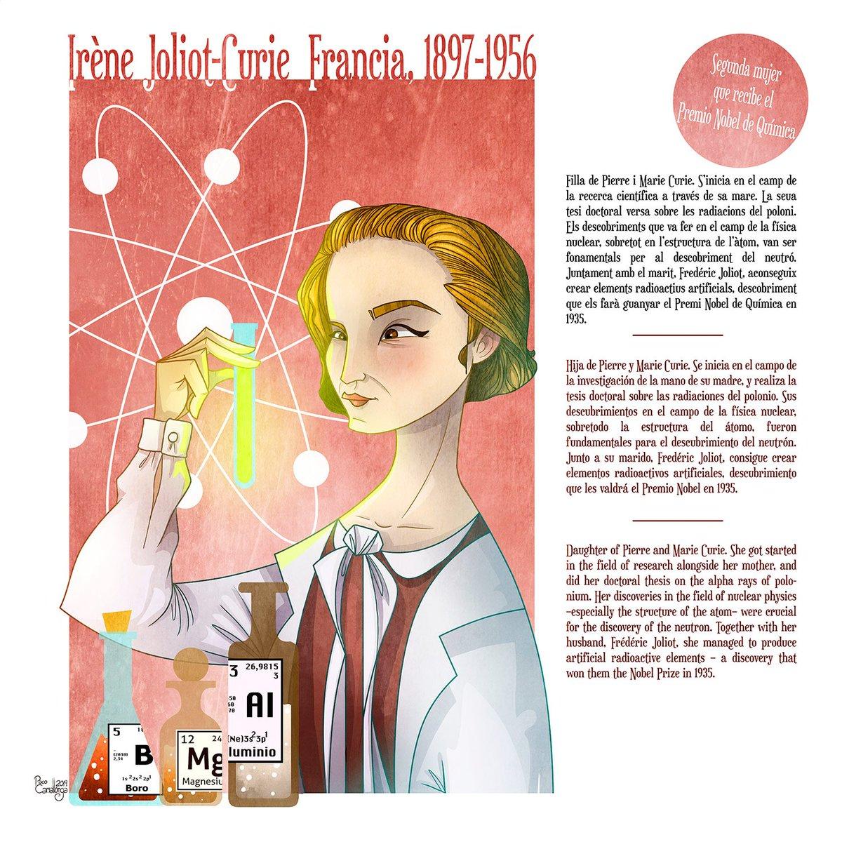 Irene Joliot Curie Francia Ellastienenlafórmula Irene