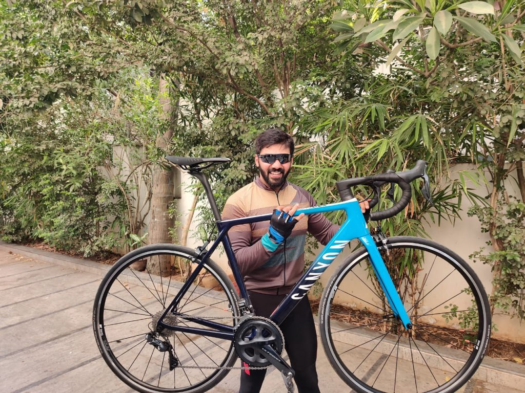 #MMDDDDLCTworkout The Beauty finally arrived #Canyon Bikes 🚲😍😍😍👍 Thank you #Prabin 🤗🤗🤗First 50 kms ride today 💪💪All set for #PBP2019 💪💪 Eid Mubarak  to all😇 😇