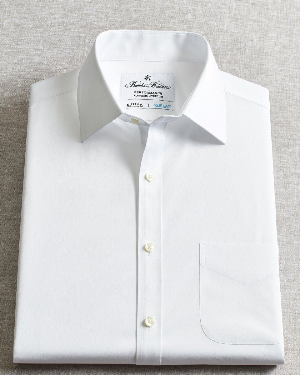 58d2cb6a This is our new Performance Non-Iron Dress Shirt made with COOLMAX®.  Moisture-wicking and cooling properties make it so no one can see where the  day has ...