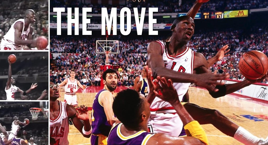 """30 YEARS AGO TODAY 🐐 MICHAEL JORDAN made this """"Spectacular Move"""" during a spectacular 33-point performance (15/18 FG) in the 1991 NBA Finals!   GM1: 36 PTS, 12 AST, 8 REB GM2: 33 PTS, 13 AST, 7 REB GM3: 29 PTS, 9 AST, 9 REB GM4: 28 PTS, 13 AST, 5 REB GM5: 30 PTS, 10 AST, 5 STL https://t.co/y9NHGi7UkF"""