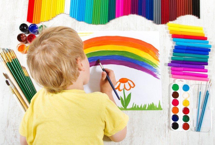 Детское творчество картинки красками