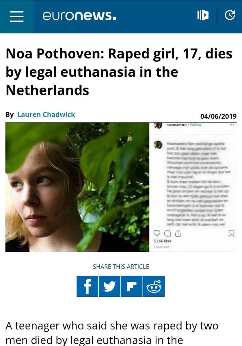 La chica de 17 años, víctima de depresión y violada, no fue eutanasiada en Holanda. (ENG)