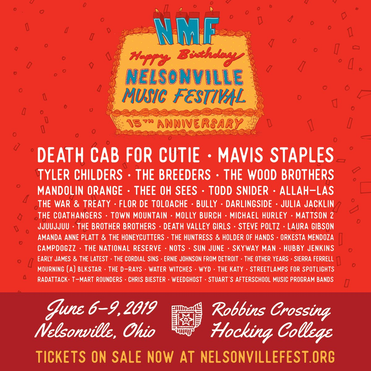 Playing @NelsonvilleFest this weekend 😎