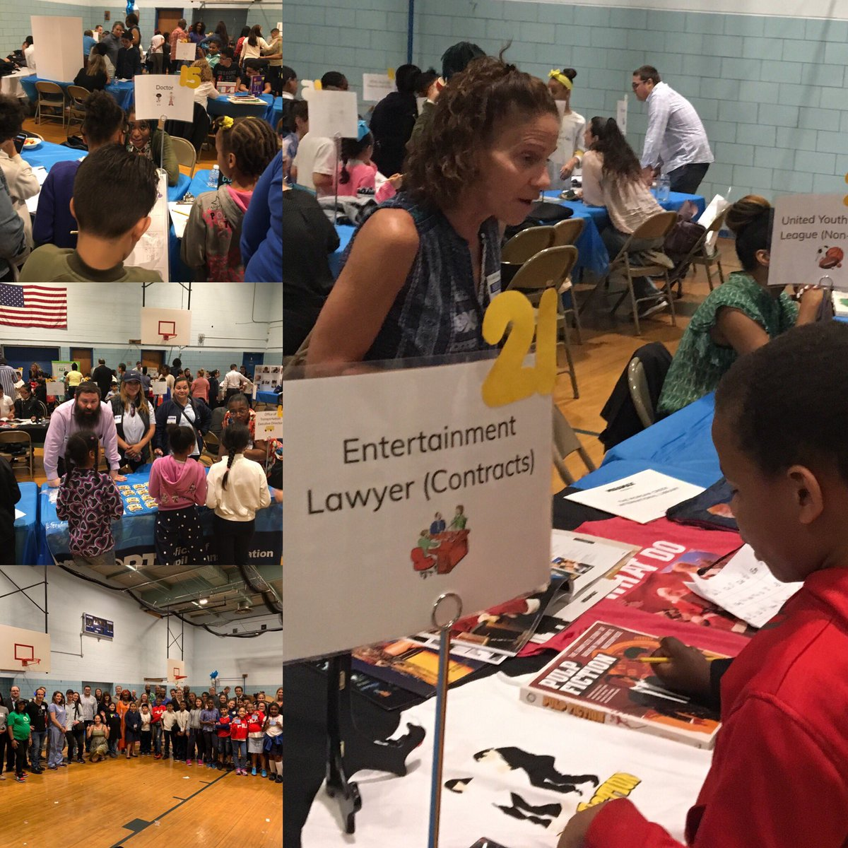 5th Annual Career Day at PS 146! @cec4eastharlem @CSD_4 @1ManhattanTeam @DOEChancellor @CWATSONHARRIS