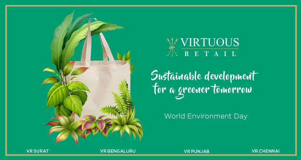 On #WorldEnvironmentDay, let's strive for a #sustainable future.  From our LEED Gold Rated flagship centre, @VRChennai, to numerous #green initiatives within our perimeters, we have always put nature first & encourage you to do the same.  #VRGreen @VRSurat @vr_punjab @VRBengaluru https://t.co/2f0BL5jyBj