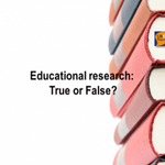 Image for the Tweet beginning: Educational research: True or False?