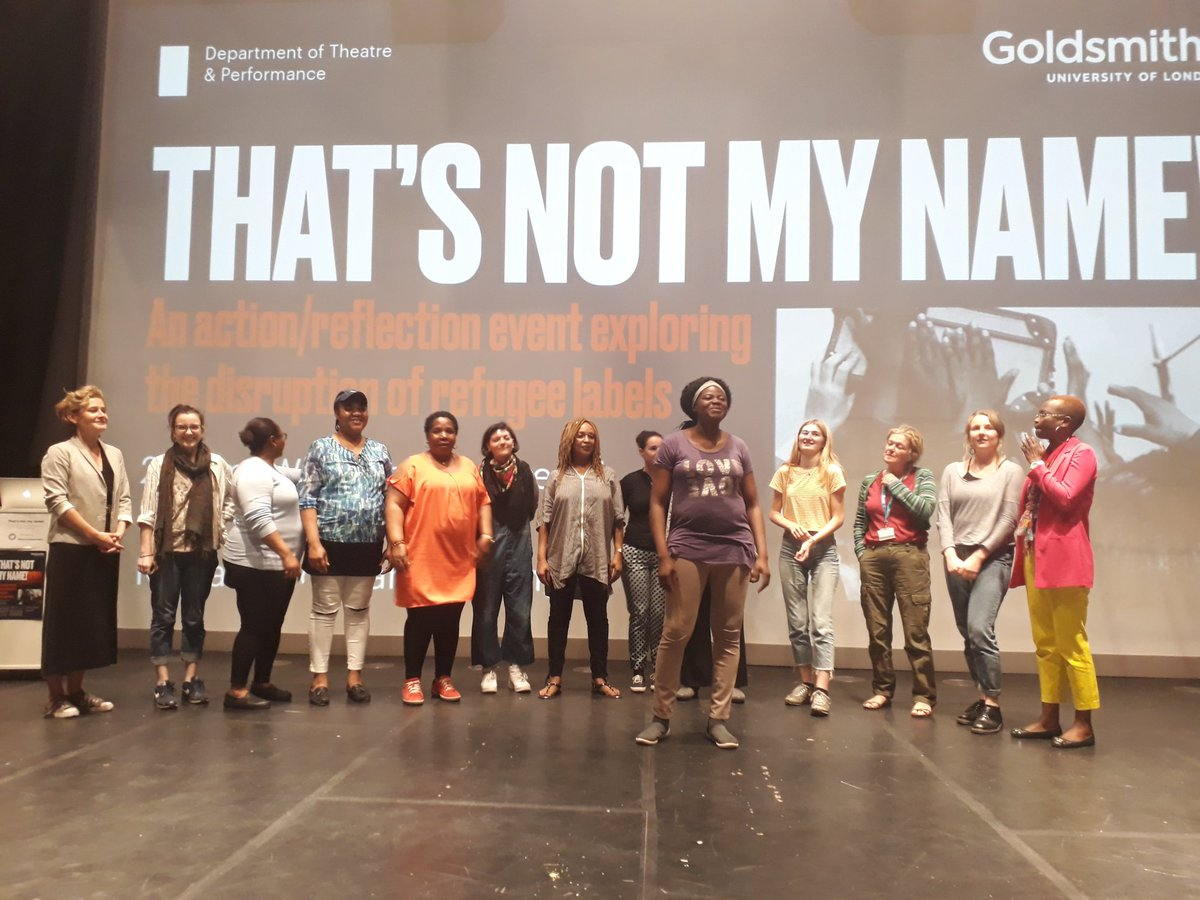 'I know who I am!' @4refugeewomen share their song created today @GoldTap #thatsnotmyname