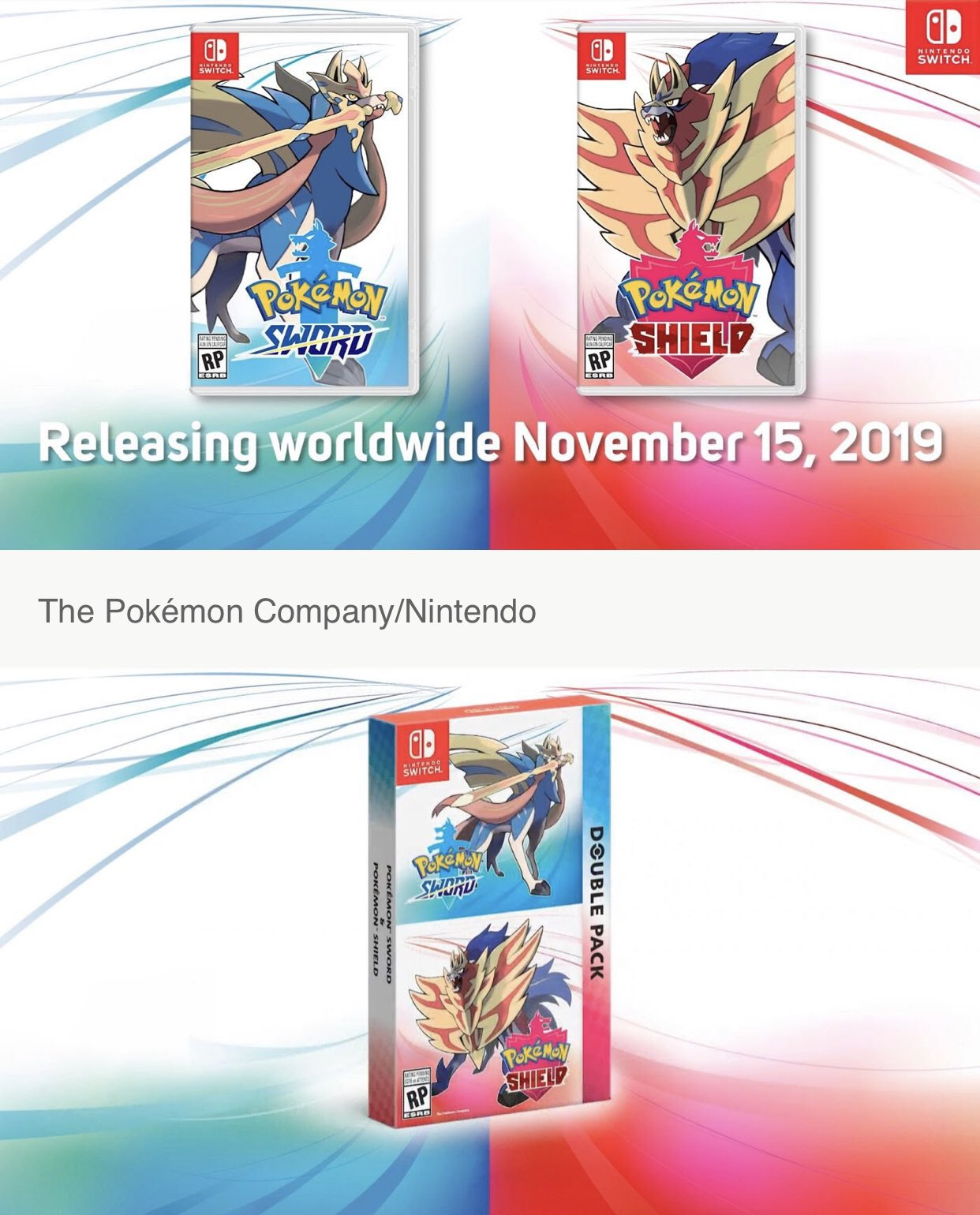 Pokémon Sword and Pokémon Shield boxart for Nintendo Switch on Paul Gale Network!
