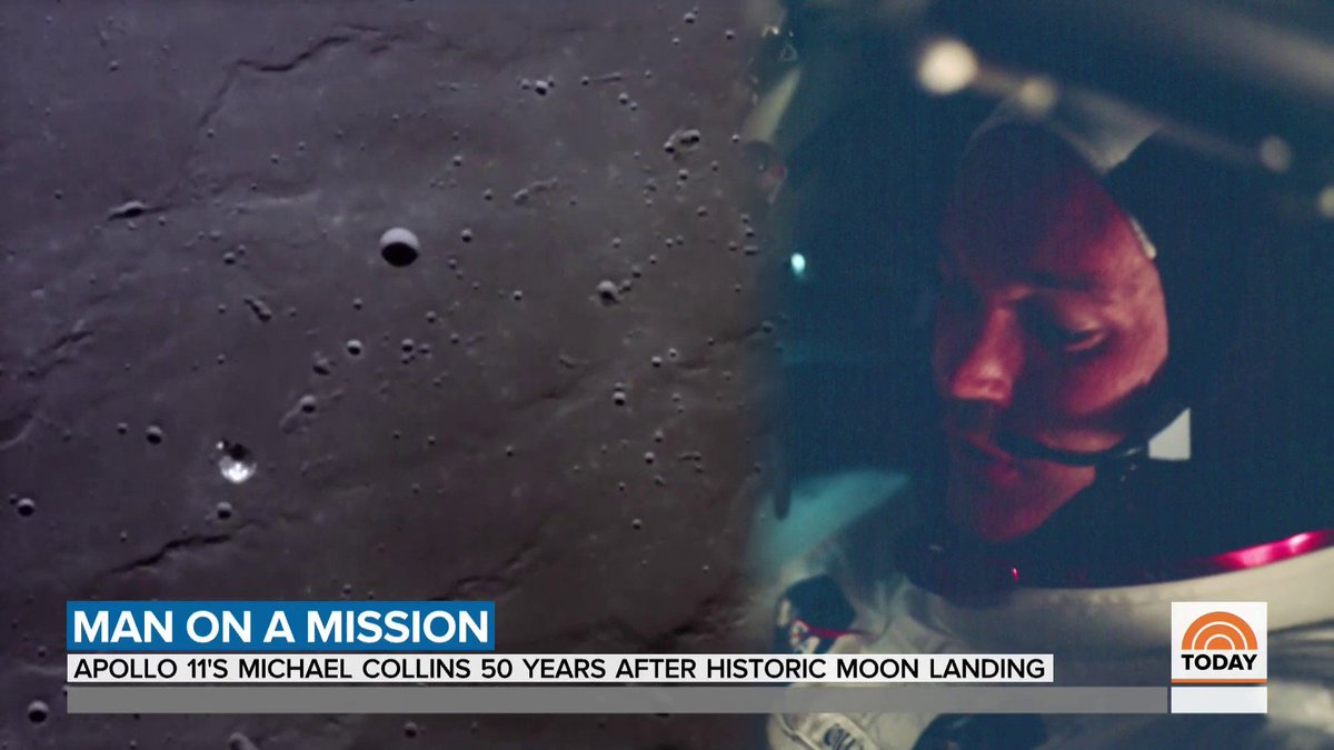 """.@harrysmith caught up with Apollo 11 Command Module Pilot @AstroMCollins ahead of the 50-year anniversary of Apollo 11.  """"I wish I could've walked on the moon, but  I can say with the utmost honesty I was thrilled to have the place that I had."""""""