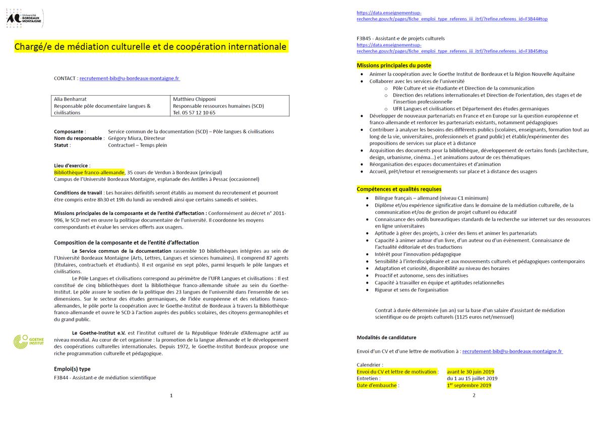 Calendrier Examens Bordeaux Montaigne.Etudesgermaniques Hashtag On Twitter