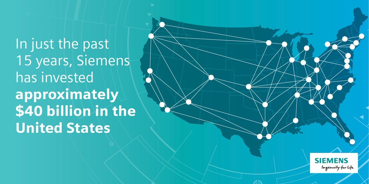 From sea to shining sea, we are making an impact across America. See how we are investing in and transforming the workforce. #UnlockThePotential #SiemensintheUS 🇺🇸 https://sie.ag/2IakL9U