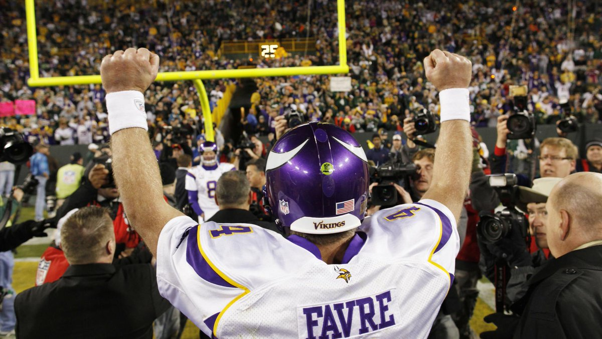 .@BrettFavre's win in his return to Lambeau was recently listed as the best NFL revenge game in the last 25 years.  📰: https://t.co/ipheV5NZIo https://t.co/73cqdxfBkG