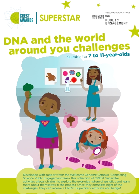 We're delighted to launch some new & exciting #CREST SuperStar resources with @WGCengage! Titled 'DNA and the world around you', the challenges allow students to explore the everyday nature of genetics & learn more about themselves:  http://bsa.sc/DNA-SS