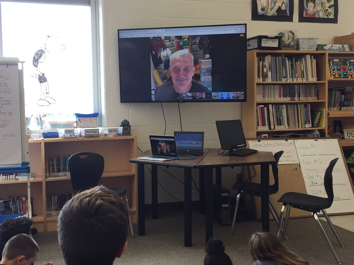 We would love to have been in the ocean surrounded by dolphins with you!! Thank you @NatGeo + @EBTSOYP for connecting us with Paul Rose. Paul - Your passion for protecting our beautiful, resilient oceans is contagious! @ugdsb @wmwtrailblazers #ExplorerClassroom