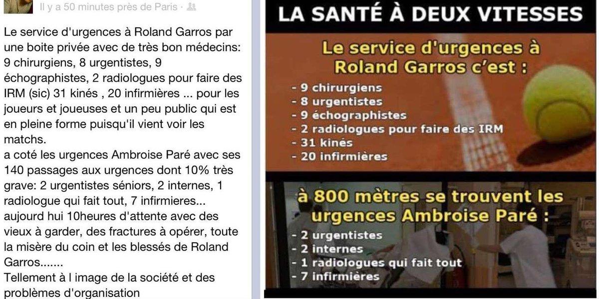 Roland-Garros, « Charlie Hebdo » et l'ancienne chronique pour défendre l'hôpital public http://bit.ly/2XrMisd