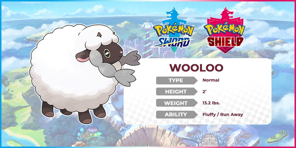 Pokemon On Twitter Meet Wooloo The White Fur Is Used For