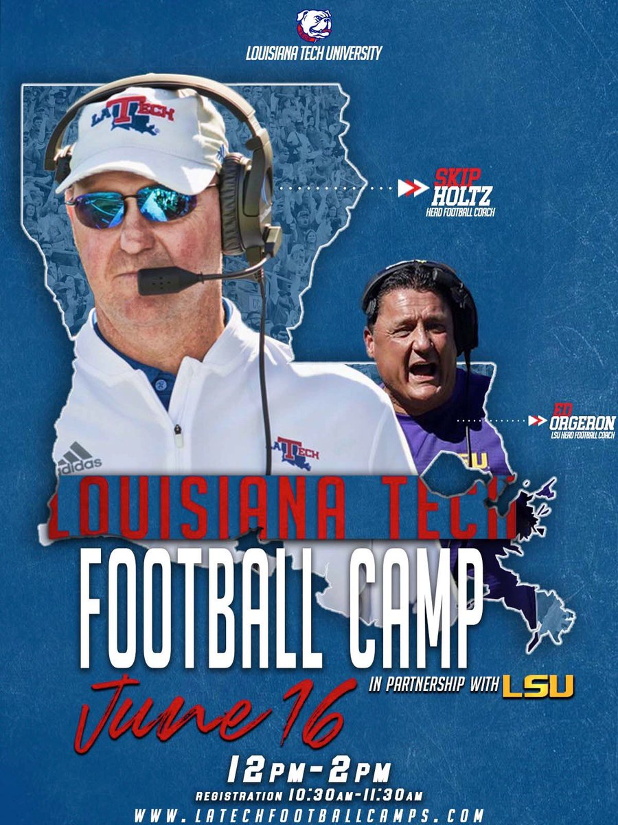 Interesting Graphic Used To Advertise The Upcoming La Tech Football Camp Tigerdroppings Com