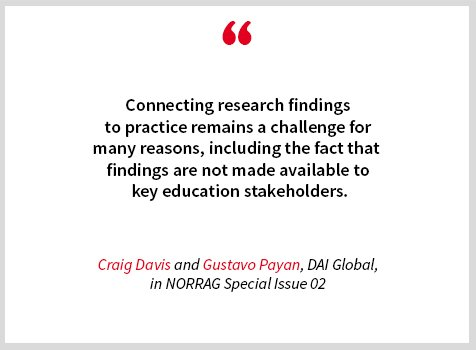 Read 'Evidence-based Programming: Incorporating Baseline Findings into Immediate Program Interventions to Reduce School-Based Violence in Honduran Schools' by @gpayanluna and Craig Davis @DAIGlobal featured in @norrag NSI 02 (#24, p. 94 et seq) #EiE http://ow.ly/ZNVN50uv8q9