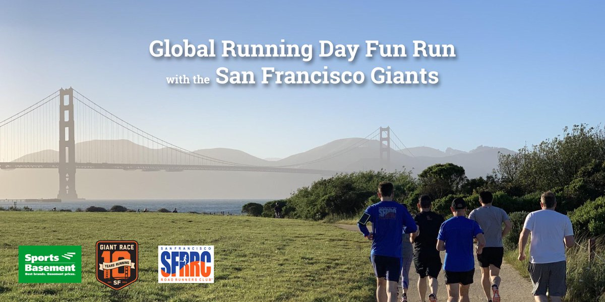 Happy Global Running Day to all wherever you are! If here, come celebrate and run with us at @SportsBasement Presidio at 6:30pm today. All are welcome! 🏃🏻♂️🏃🏻♀️🎉😀 #sfrrc #runningcommunity #giantrace #GlobalRunningDay