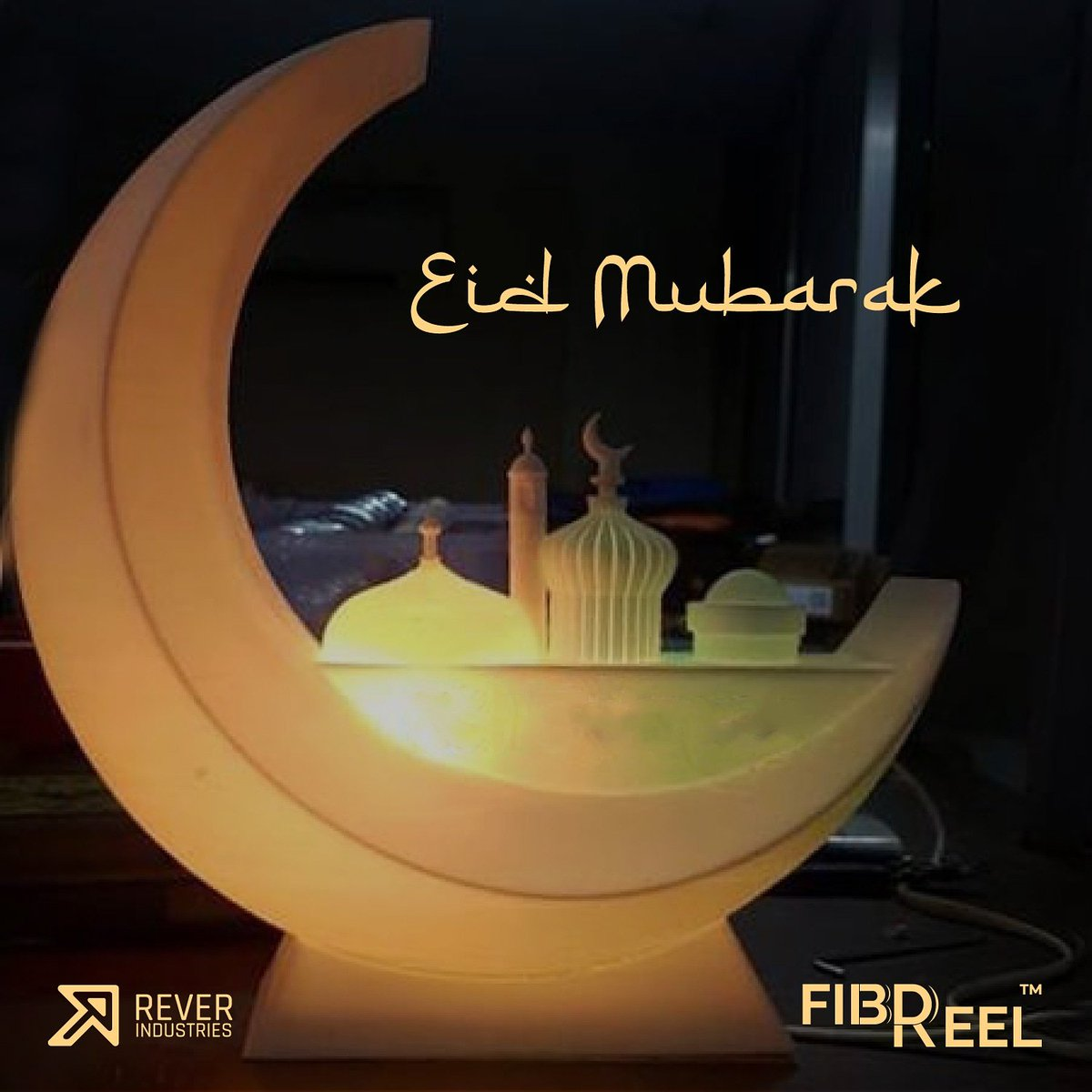 Eid Mubarak – may your homes and hearts be filled with joyful spirit of Eid. Laugh, Live, Love. #EidMubarak #Eid2019 #3dprinting #3dcubic