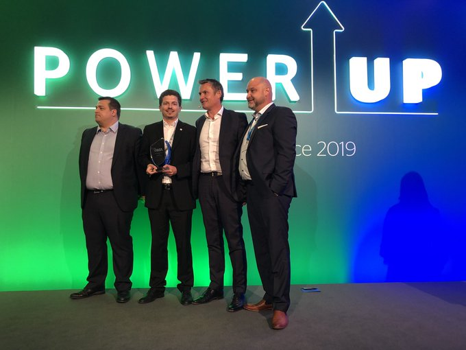 Global Partner Awards 2019 @A1Telekom wins Above & Beyond, sponsored by @ASCTechnologies...