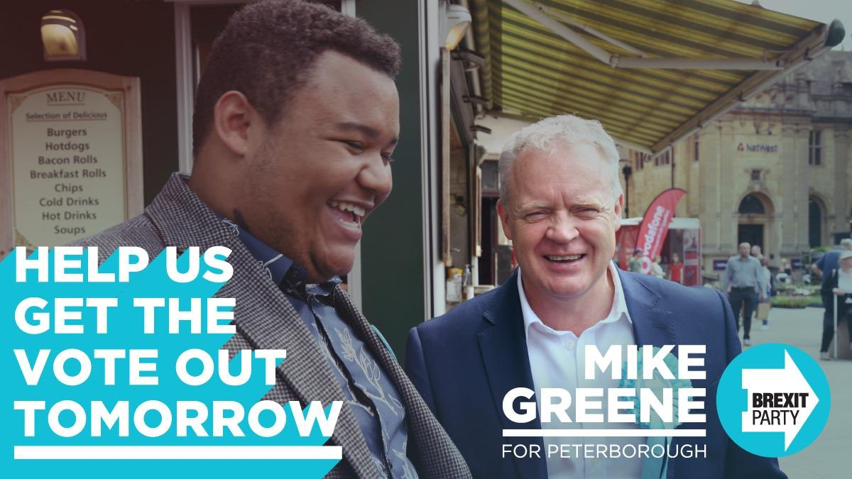 Get down to Peterborough tomorrow and help us win. Email peterborough@thebrexitparty.org to get involved.