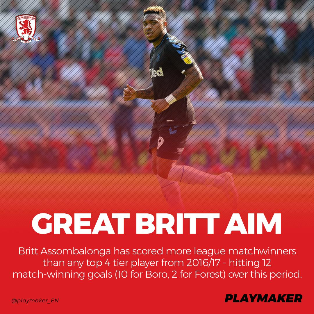 📈 Most league matchwinners (fr. 2016/17; top 4 tiers): 12⚽:💥@BrittOfficials*💥 11⚽: Sharp 10⚽: Kane, I Henderson, Kee * Most Cship matchwinners last season (7) #UTB @Boro