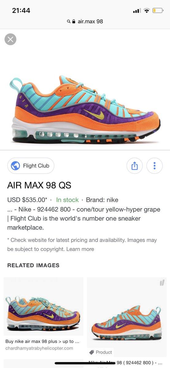 AIR MAX 98 QS Nike 924462 800 cone/tour