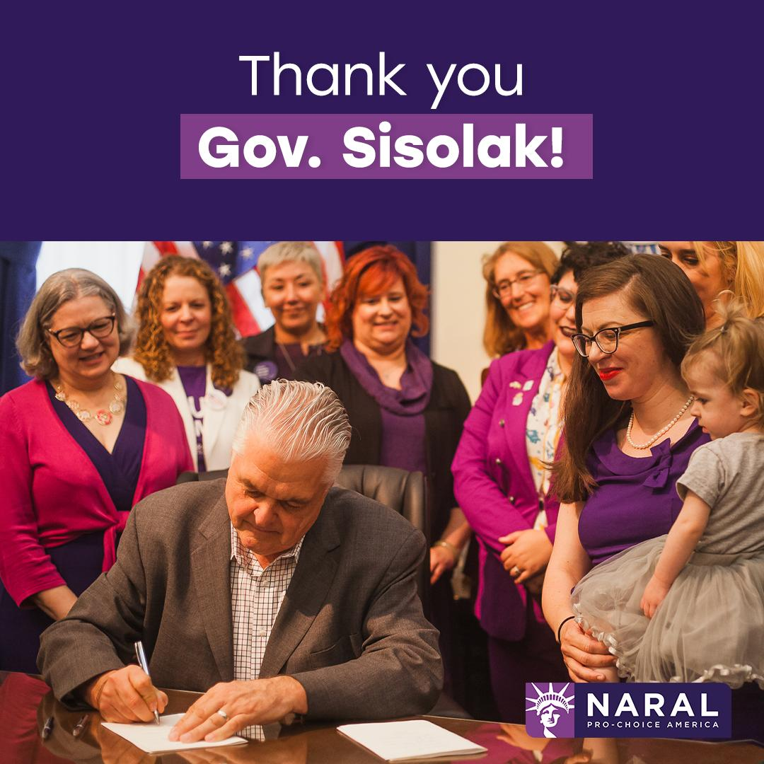 The Trust Nevada Women Act has been signed into law, protecting our right to choose. Add your name to say thank you to @GovSisolak standing for reproductive freedom! http://actnow.prochoiceamerica.org/signup/trust_nevada_women_thankyou_ab-ck …