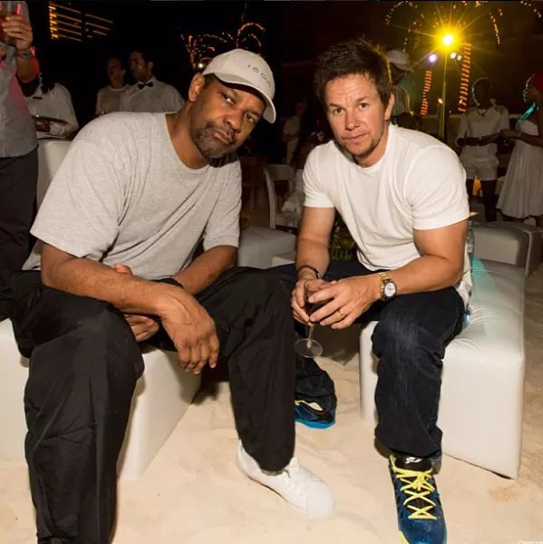 Happy birthday Mark Wahlberg  with Denzel Washington