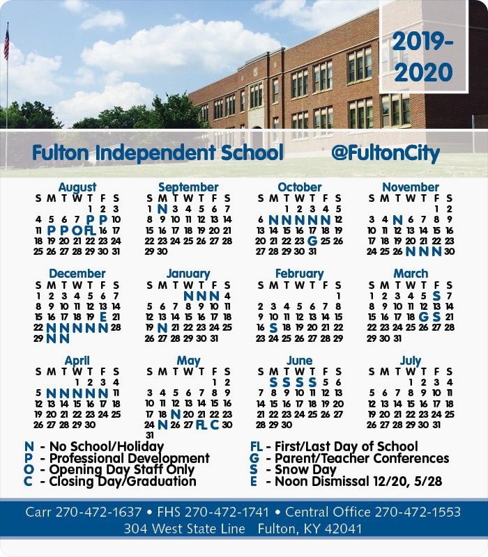 Fulton County School Calendar 2020