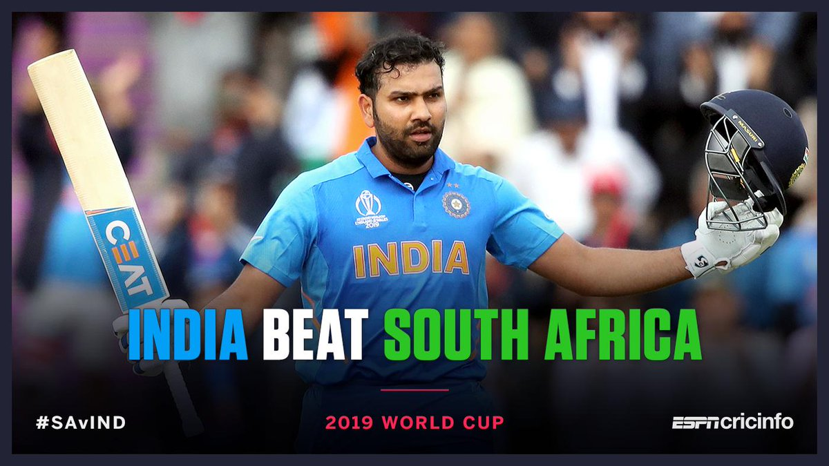 ICC WORLD CUP: INDIA BEAT SOUTH AFRICA BY 6 WKTS | The