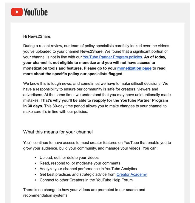 This will not go well': YouTube cracks down on pundits