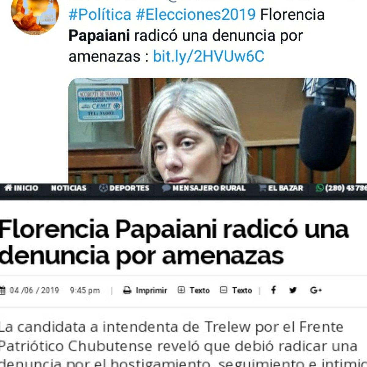 Mi total repudio y acompañamiento a mi compañera de banca, Florencia Papaiani, por el hecho de violencia sufrido.Con la total convicción de que, #JuntasSomosMasFuertes y, que la Sororidad no sabe de, credos ni partidos políticos... #NiUnaMenos #YoSiTeCreo #MiraComoNosPonemos