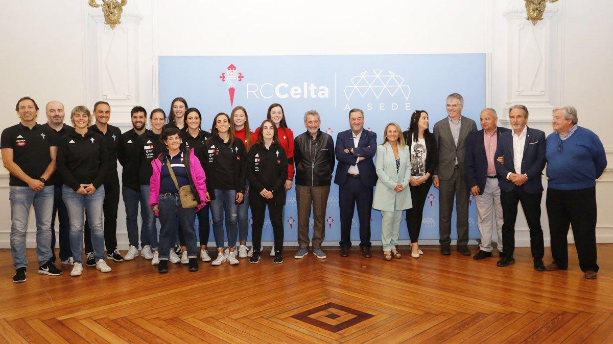 Homenaje al Celta Baloncesto en A Sede (Foto: RCCV).