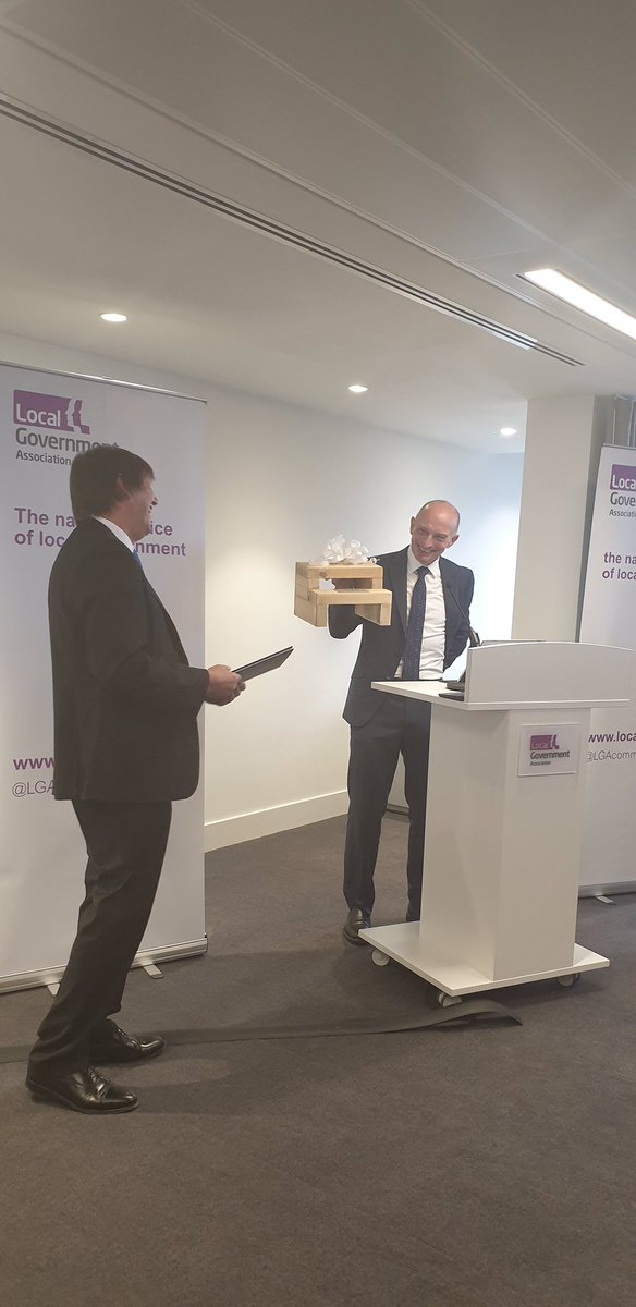 RT @LGAcomms Today we are saying a huge thank you to our chairman @garyportercbe for the years of service he has dedicated to the LGA and local government. Everyone at the LGA would like to wish Gary all the very best for the future. Thanks Gary! 👏