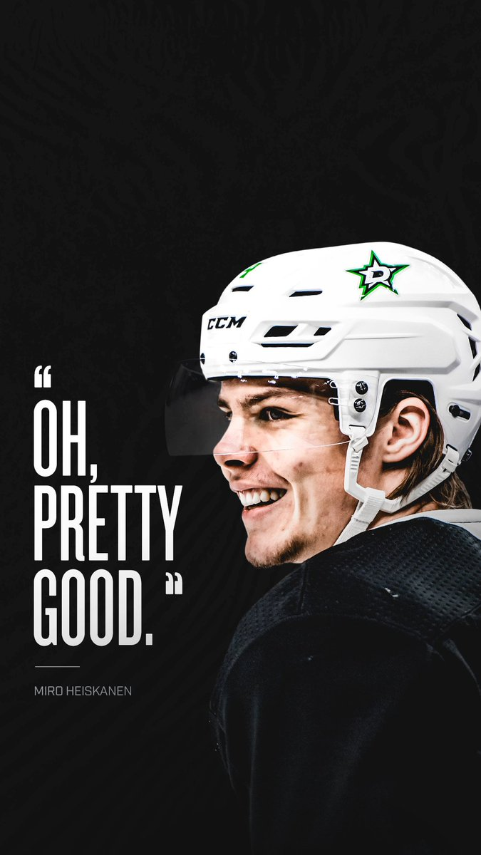 """Dallas Stars on Twitter: """"The people have spoken! Y'all wanted Miro wallpapers, here ya go. #WallpaperWednesday #GoStars… """""""