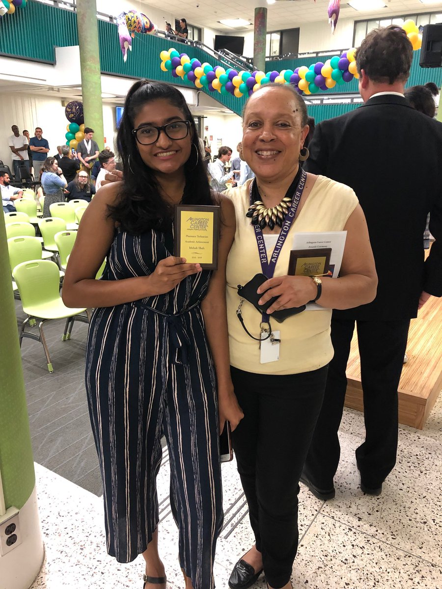 Pharm Tech students w/their awards on Awards night. Mehak: for academic achievement, Sara for receiving the Del Gallo scholarship. Both well deserved! ⁦<a target='_blank' href='http://twitter.com/APSCareerCenter'>@APSCareerCenter</a>⁩ ⁦<a target='_blank' href='http://twitter.com/APS_CTAE'>@APS_CTAE</a>⁩ ⁦<a target='_blank' href='http://twitter.com/AcadAcademy'>@AcadAcademy</a>⁩ ⁦<a target='_blank' href='http://twitter.com/AccCounseling'>@AccCounseling</a>⁩ <a target='_blank' href='https://t.co/qQbDfDeJWi'>https://t.co/qQbDfDeJWi</a>