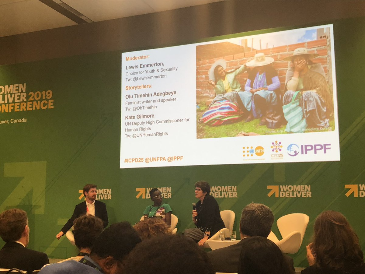 Advocacy Coordinator @LewisEmmerton moderating a session on why #ICPD25 is as relevant as ever! #WD2019 @OhTimehin @UNHumanRights